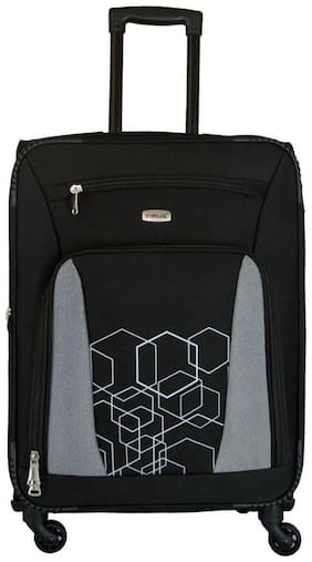 Timus Morocco Spinner Black Check 65 Cm Size 4 Wheel Strolley Suitcase For Travel