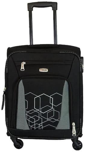 Timus Morocco Spinner Black Cabin 55 Cm 4 Wheel Strolley Suitcase For Travel