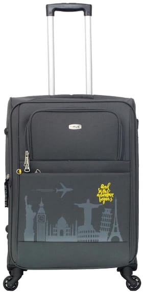 Timus Salsa Graphite Check In 65 Cm 4 Wheel Strolley Suitcase For Travel