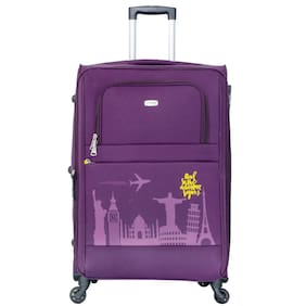 Timus Salsa Wine Check In 75 Cm 4 Wheel Strolley Suitcase For Travel