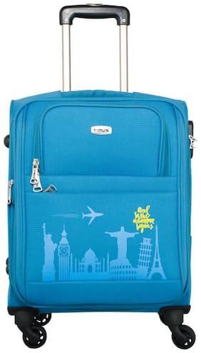 Timus Salsa Ocean Blue Cabin 55 Cm 4 Wheel Strolley Suitcase For Travel