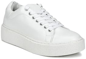 Total White Lace-Up Creepers