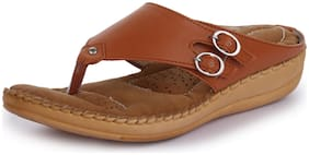 TRASE Dr - Plus Elan Tan Ortho Slippers for Women (with Comfortable Doctor Sole)-8 /UK
