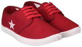 Men Maroon Casual Shoes
