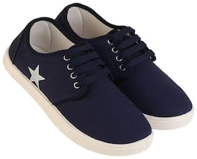 Men Navy Blue Casual Shoes