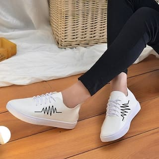 TREADFIT Men White Sneakers