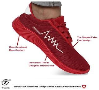Treadfit Men Red Heartbeat Sneakers