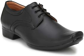 Trendigo Blck Synthetikc Leather Formal Shoes For Men