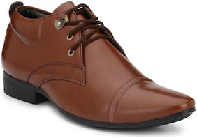 Trendigo Brown Synthetic Leather Derby For Men