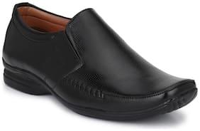 Trendigo Men's Black Synthetic Leather Classy Formal Shoes For Men