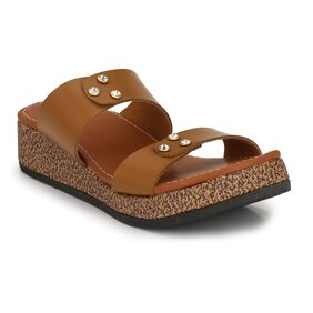 Trendigo Sizziling Off____Beige Synthertic Leather Sandals For Women