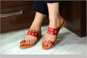 Imported Maroon Women's Flats