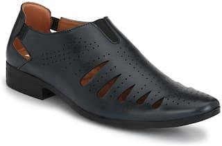 Trendigo Synthetic Leather Blue Sandals