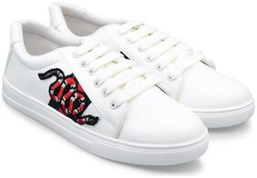 TRENDY LOOK Women White Sneakers