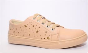 TRENDY LOOK Women Beige Sneakers