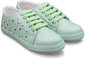 TRENDY LOOK Women Green Sneakers