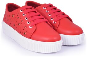 TRENDY LOOK Women Red Sneakers