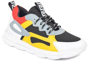 Trendy Style casual sports shoes for men's Walking Shoes For Men ( Yellow )
