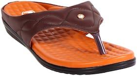 Trilokani Women Brown Sandals