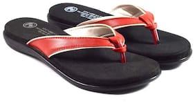 Trilokani Womens Red Slipper