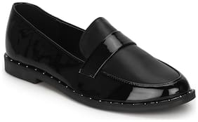 Truffle Collection Black Pu Loafer