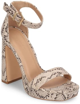 Truffle Collection Women Synthetic Sandals Beige