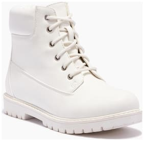 Truffle Collection White Boots