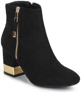 Truffle Collection Black Block Ankle Length