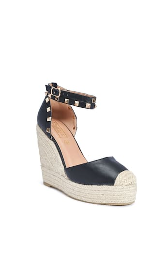 Truffle Collection Black Wedges