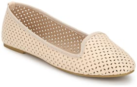 Truffle Collection Beige Loafer Flats