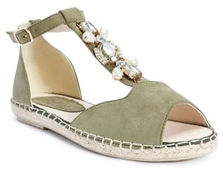 Truffle Collection Green Flats