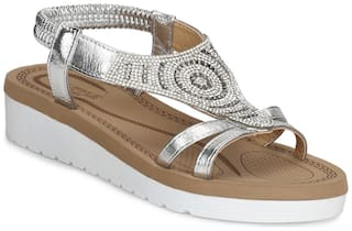 Truffle Collection Women Synthetic Embellished Casual Heels