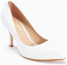 Truffle Collection White Heels