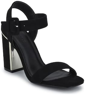 Truffle Collection Black Block Sandals For Women