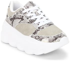 Truffle Collection Women Synthetic Casual Shoes Beige