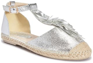 Truffle Collection Silver Flats