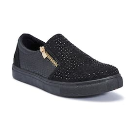 Truffle Collection Black Casual Shoes