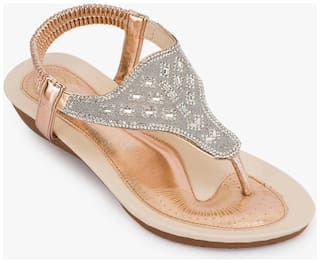 Truffle Collection Golden Sandals