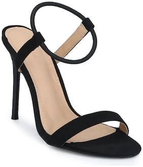 Truffle Collection Black;Brown Stiletto Sandals For Women