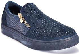 Truffle Collection Navy Blue Casual Shoes