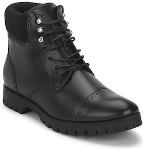 Truffle Collection Men PU Ankle Black