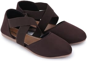 Tryfeet Lycra Brown Stylish Women's Sandals/Footwear