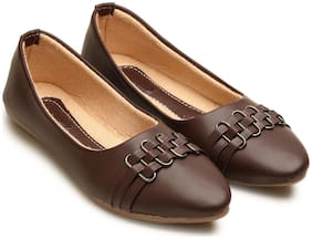 tryfeet Women's Brown Pointed Bellies
