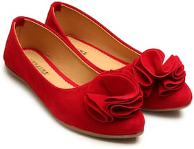 tryfeet Women's Red Pointed Bellies