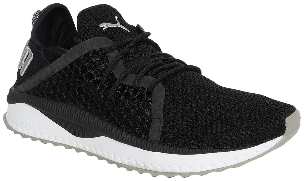 Puma Tsugi Netfit Black-White-Rock Running Shoes For Men