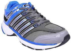 Twin Mens sports shoe TPH-965 grey Blue colour