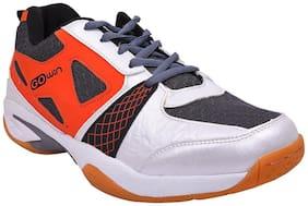 Twin Sports Badminton Shoe TGH-Staunch White Orange grey Colour