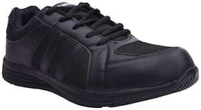 Twin unisex school uniform shoes TYH-86041 black sneakers
