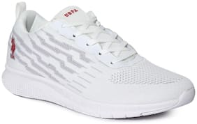 U.S. Polo Assn. Men Running Shoes ( White )