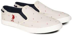 U.S. Polo Assn. Men White Casual Shoes